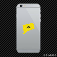 Connecticut State Shaped Gadsden Flag Cell Phone Sticker Mobile CT