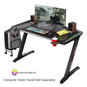 *SALE* NEW Eureka Ergonomic Z2 RGB PC Gaming Desk with Assessories - RGB Light