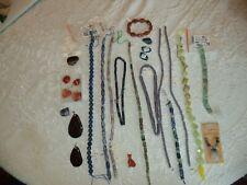 Semi precious beads and stones lot.