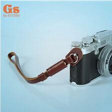 NEW PU camera wrist strap Hand strap Brown for DSLR Micro SLR Camera Polaroid