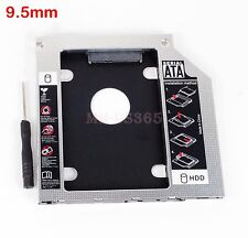 9.5mm Second SSD HDD Hard Drive UltraBay SLIM Caddy Module For Lenovo Y400 Y500