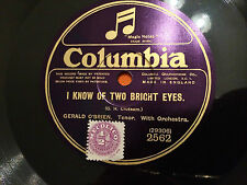 """GERALD O'BRIEN """"Absent""""/""""I Know Of Two Bright Eyes"""" 78rpm 10"""" Eng. c1925 NM+"""