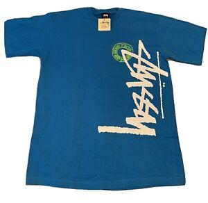 Stussy Blue T-Shirt - Large NWT New L Vintage Rare Sb Dunk Yeezy