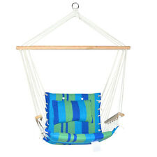 Hammock Swing Chair Blue Green Outdoor Furniture Hanging Seat