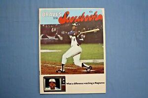 1974 Atlanta Braves Scorebook Hank Aaron cover ex-mt unscored