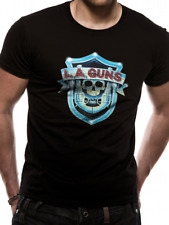 La Guns - Shield Logo Men's Large T-Shirt - Black