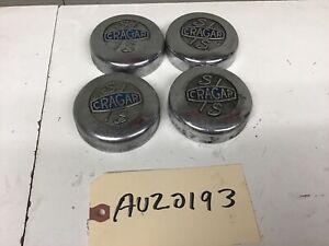 "1930-1996 S/S CRAGAR 3"" INCH CENTER CAPS FOR CRAGAR WHEELS - CHEVY PONTIAC DODGE"