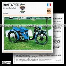 #064.16 MONET-GOYON 250 AUTO-MOUCHE GZO 1936 (Moteur VILLIERS) Fiche Moto