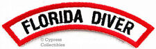 FLORIDA DIVER CHEVRON SCUBA DIVING iron-on DIVE CERTIFICATION PATCH embroidered