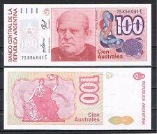 ARGENTINA- BILLETE 100 AUSTRALES 1985/90 Pick # 327c  S/C  UNC