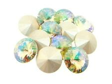 Swarovski Foiled Rivoli Stones Art.1122 12mm Luminous Green 12 Pieces cc