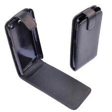 custodia eco PELLE nera protezione FLIP CASE per SAMSUNG i9070 GALAXY advance