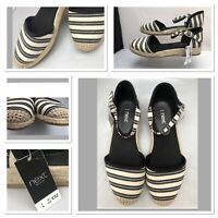 NEW NEXT Size 4 37 Summer Low Wedge Platform Sandals Shoes Espadrilles £32
