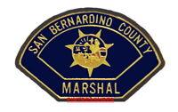 San Bernardino CA County Marshal Patch Lapel Pin Collector Vintage Historic Pins