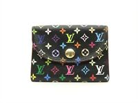 Louis Vuitton Authentic Monogram MULTICOLORE Noir Coin Purse Wallet Auth LV
