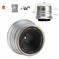 7artisans 25mm F1.8 Manual Focus Lens for Sony E Mount A7 A7II A7R A7RII Silver