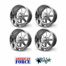 (4) 20x9 American Force Polished SS8 Independence Wheels Chevy GMC Ford Dodge