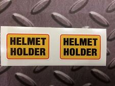 HELMET HOLDER Motorcycle Scooter Stickers Decal 2 off 35mm