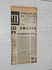 FRANCE FOOTBALL OFFICIEL HEBDOMADAIRE FFF N°422 20/04 1954
