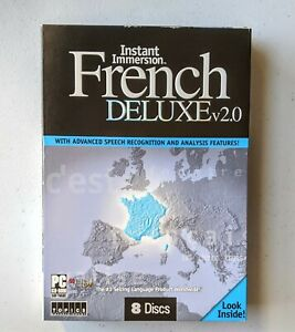 Topics Entertainment Instant Immersion French Deluxe v2.0 8 x Disc Audio PC Set