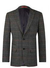 dobell Grey windowpane check tweed jacket (slim fit) 36R