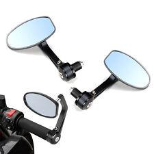 """7/8"""" Motorcycle Bar End Rearview Mirrors Fit Ducati Honda Yamaha KTM Kawasaki"""