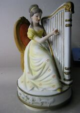 Japanese hand painted figurine / music box