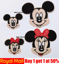 Mickey Mouse Girl Disney Minnie Iron on Patches Badges
