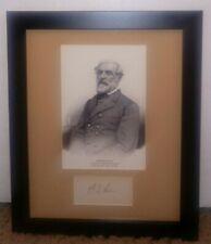Robert E. Lee Signature Autograph Signed Page