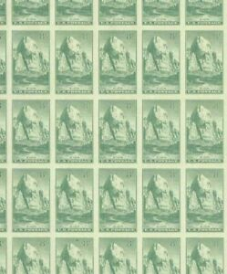 #763 8¢ PARKS ZION IMPERF FULL MINT SHEET OF 50 NO GUM AS ISSUED