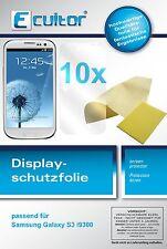 10x Ecultor Samsung Galaxy S3 i9300 Schutzfolie klar Displayschutz unsichtbar