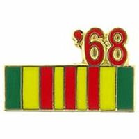 1968 VIETNAM SERVICE RIBBON LAPEL OR HAT PIN