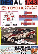 DECAL 1/43 TOYOTA CELICA GT-4 J.KANKKUNEN T.DE CORSE 1988 DnF (03)