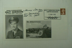 1999 DAMBUSTERS FDC GUY GIBSON VC SIGNED BY DAM BUSTER JOHNNY JOHNSON