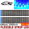 10X 60CM Ultra Blue SMD LED Car Motor Flexible Light Strip Bar Waterproof 12V