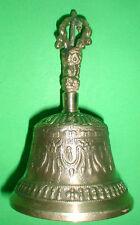 Tibetan Bell  XL 8 inch heigh Beautiful sound handmade Nepal with sm prayer flag