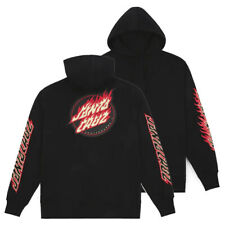 Santa Cruz - Flame Dot Hood - Skateboard Hoodie - Black - Medium