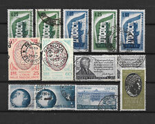 ITALIE - 1956-57 YT 730 à 737 - TIMBRES OBL. / USED