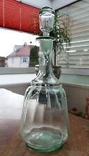 Antike Biedermeier Glas Karaffe mit Glasverschluss und Abriss um 1850 !!!