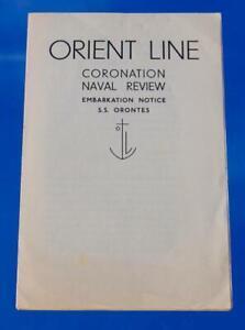 ORIENT LINE UNUSUAL CORONATION REVIEW 1937 EMBARKATION NOTICE FLYER