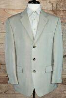 Men's Chaps by Ralph Lauren Taupe/Gray Rayon Blend Blazer/Sportscoat Sz 42R