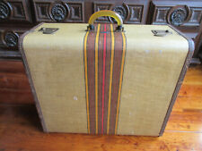 Rare 1950's Koch's Aviation Luggage - Retro Vintage Hard-Shell Antique Suitcase