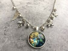 Sleeping Beauty Maleficent Glass Cabochon Statement Charm Necklace Unwanted Gift