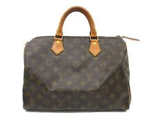 Auth LOUIS VUITTON Monogram Speedy 35 M41524 Boston Bag PVC Leather 70353