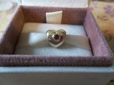 Genuine Authentic Pandora 14ct Gold & Ruby Puffed Heart Charm 750294RU RARE