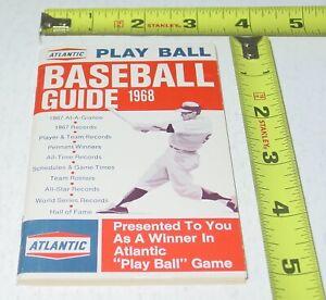 BASEBALL GUIDE 1968 Vintage Original  Atlantic Play Ball Game Schedules HOF