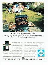 Publicité Advertising  0817  1993  barbecue à pierre de lave Camping Gaz