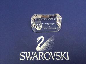 Swarovski Crystal Masquerade SCS Pierrot Plaque, German - 9003140086607. MIB