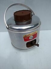 REDUCED !!  VINTAGE CAMPING POLORON FEATHERFLITE ALUMINUM PICNIC JUG COOLER