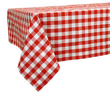 60 X 84 In. Cotton Tablecloth Checkered Red U0026 White